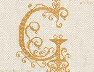 Stitchery IV: Monograms & Monogram Samplers / One of my favorite cross stitch designs to stitch.
