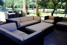 Ultimate Combo Sets / Combine Deep Seating Sectionals, Dining Sets and Chaise Lounge Sets for an ultimate one-stop patio furnishing and big savings!