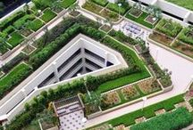 Climate - Smart Roofs : Greenroofs and Other Sustainable Building Rooftops / Climate Change Solution : Building roofs occupy a vast percentage of the footprint of the built environment. Typical commercial - black roofs absorb sunlight and contribute to urban heat islands.  Going Solar, or going with a GreenRoof, or rooftop garden helps address Climate Change.
