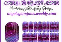 NAS Designs by Angel's Glam Jams / EXCLUSIVE NAS DESIGNS by Angel's Glam Jams!  Designed in Jamberry's Nail Art Studio!  ORDER HERE: http://angelsglamjams.weebly.com/exclusive-nail-wraps.html  #Jamberry #NailArt #AngelsGlamJams