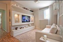 Salas e Sofás - Lincoln Briniak / Sala, sala de tv, decoração, sofá, lareira e aconchego.