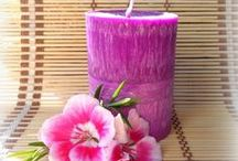 Candle / We also produce candles and scented candles from palm and beeswax.
