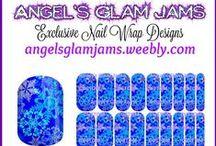 SNOWFLAKE NAIL WRAP DESIGNS by Angel's Glam Jams / Snowflake Nail Wrap Designs by Angel's Glam Jams!   ORDER HERE: http://angelsglamjams.weebly.com  #jamberry #nailart #nailwraps #NAS #nailartstudio
