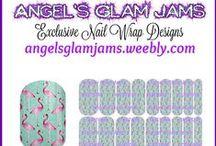 FLAMINGO NAIL WRAP DESIGNS by Angel's Glam Jams / Flamingo Nail Wrap Designs by Angel's Glam Jams! ORDER HERE: http://angelsglamjams.weebly.com  #jamberry #nailart #nailwraps #NAS #nailartstudio  #NailWraps #Flamingos #Pink #JamberryNAS