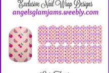 FRUIT Jamberry Nail Art Studio Nail Wrap Designs by Angel's Glam Jams / FRUIT Jamberry Nail Art Studio Nail Wrap Designs by Angel's Glam Jams ORDER HERE: http://angelsglamjams.weebly.com/  #fruit #fruitdesigns #watermelon #cherry #lemon #nailartstudio #nas #jamberry #nailwraps
