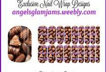 SWEET TREATS Jamberry Nail Art Studio Nail Wrap Designs by Angel's Glam Jams / SWEET TREATS Jamberry Nail Art Studio Nail Wrap Designs by Angel's Glam Jams ORDER HERE: http://angelsglamjams.weebly.com  #candy #cupcakes #cake #sweettreats #chocolate #jamberry #nas #nailartstudio #nailwraps #nailwrapdesign