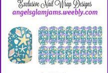 BEACH & NAUTICAL Jamberry Nail Art Studio Nail Wrap Designs by Angel's Glam Jams / BEACH & NAUTICAL Jamberry Nail Art Studio Nail Wrap Designs by Angel's Glam Jams ORDER HERE: http://angelsglamjams.weebly.com #nautical #beach #anchors #flipflops #mermaid #seashells #ocean #tropical #summer #jamberry #nas #nailartstudio #nailwraps