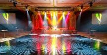 Corporate Event Lighting / Event lighting inspiration and event lighting work by Maple Ridge Events.