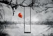 Red Balloon ~~~ / by Jo Ann Rohrabaugh LaBrier