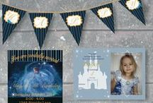 Personalized Party Decorations by Expressed With INK / Party Decorations and invitations #party #Cinderella #Birthday #Invitations #poster  / by Stephanie Koufeldt
