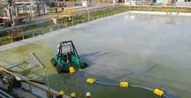 Dragflow Remote Controlled Dredge for Chemical Industry Pond Dredging (Italy, 2015)