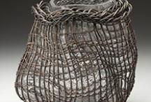 vessels, wicker, straw, paper