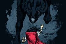 Little Red / Illustration and other renderings of Little Red Riding Hood.