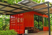 containers / brilliantly styled shipping containers used to create houses, retail shops, restaurants, cafés and respits