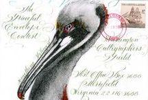 Mail Art.. / #mailart #snailmail / by Thea Burras