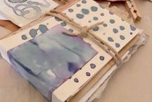 organic prints and dyes / Eco prints on fabric and cloth and paper