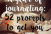Journal Prompts / Prompts and ideas for journaling