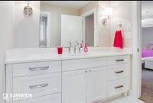 Bathrooms / Freshen up with some of the coolest bathroom and ensuite bathroom designs.  Brought to you by Superior Cabinets and others we LOVE from Pinterest.