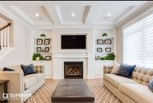 Fireplace Ideas / A collection of some of the greatest and warmest fireplace design ideas. Brought to you by Superior Cabinets and others we LOVE from Pinterest. .