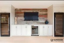 Bars / Bars for home entertaining. Brought to you by Superior Cabinets and others we LOVE from Pinterest.