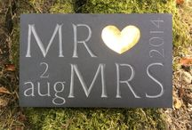 Wedding Plaques / Wedding gifts hand-carved into slate - commemorate yours or family/friends wedding day!