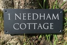 House Numbers and Names / Hand carved house numbers and names