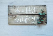 Styling ◊ Signage / Some cool signage ideas to help personalise your wedding! Get creative!
