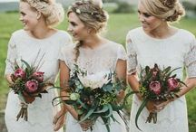 Styling ◊ Bridesmaids / Get stylish and unique inspiration for bridesmaids looks here! From dresses to bouquets to hair, Bochic has you covered