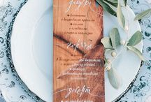 Styling ◊ Menus / Stylish menu ideas and signage!