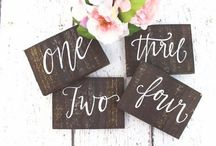 Styling ◊ Table Numbers / Get creative with your table numbers ✨