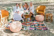 Styling ◊ Wedding Lounge / Bohemian chill out areas for the relaxed couple. Create a wedding lounge where your guests can rest their dancing feet!
