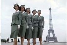 Vintage Flight Attendant's Uniforms / Flight Attendants