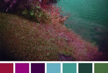 Inspire ☾ Colour Palettes / Different ideas for your wedding colour scheme.