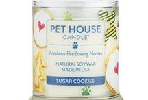 Pet House Candles / Pet House Candles are specially formulated to freshen pet-loving homes. Every fragrance is made with an odor neutralizer and is infused with our own blend of essential oils. Our hand-poured candles are crafted with a natural, dye-free wax. Burn time is approximately 70 hrs. Made in the USA