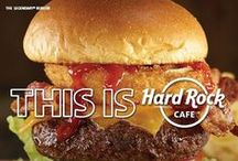 "Hard Rock Cafe Food / Our ""Legendary"" isn't just a burger ! Made in-house daily and cooked using the finest ingredients - it's a legend and has been for almost four decades !"