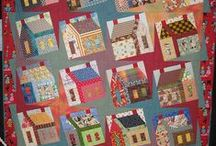 quilts with houses / by **~Kathy~**
