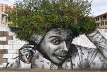 Street art with a smile