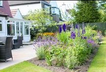 Garden for Mr & Mrs AG, Adel / Photos from a garden we designed and planted last year, now thriving!