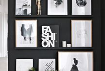 On the walls / Gallery wall photos. Art displays.