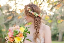 Wedding Hair and Nails / Inspiration for how i want my hair and nails for my wedding
