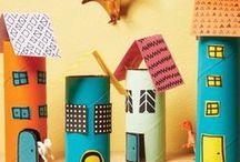 Toilet Paper/Paper Towel Rolls / Simple craft ideas with toilet paper or paper towel rolls (cardboard tubes)