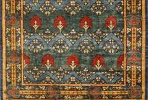Decorative Rugs - Arts & Crafts / Beautiful decorative rug patterns and designs, inspired by flora and fauna and influenced by famous artist and designer William Morris.