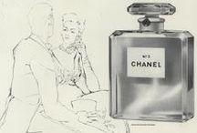 Vintage cosmetics advertisements