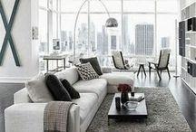 Moderne stijl / rustig en minimalistische woonstijl met strakke lijnen en rechte hoeken.