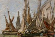 Les petits bateaux d'Eugène Boudin / Les barques, bateaux et autres navires sont très présents dans les œuvres d'Eugène Boudin. Venez les découvrir !