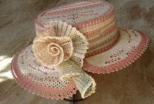 Кружево-шляпки, сумочки, перчатки