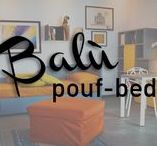 """Pouf/Bed """"Balù"""" / Need extra-bed for friends? Find out the Balù Pouf Bed, a product by Ciatdesign that smartly combines style and convenience"""