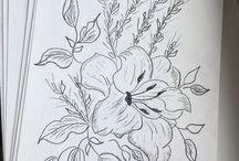 Эскизы для вышивки sketch embroidery / Эскизы вышивка sketch sketching embroidery