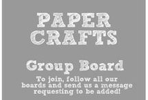 Paper Crafts / Paper Crafts  Group Board Rules: To join this group, please follow all our boards and send a message letting us know what boards you'd like to join. Take some time to acquaint yourself with the content already on the board. If your pin fits with the theme, feel free to share it!  NO SPAMMING or you will be removed! Please do not pin duplicates and remember to help other blogs by repinning at least 2 pins for every pin you post.