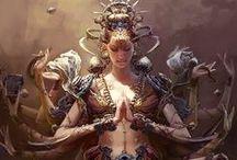 amazon, saman, godess, warrior -the woman